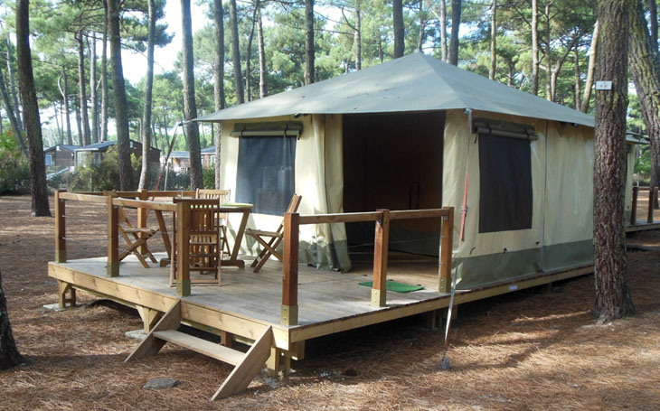 Tent with outdoor terrace